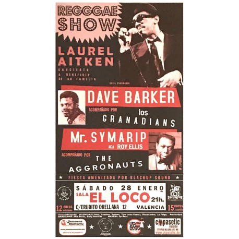 Poster Regggae Show - Tributo a Laurel Aitken (70x33cm)