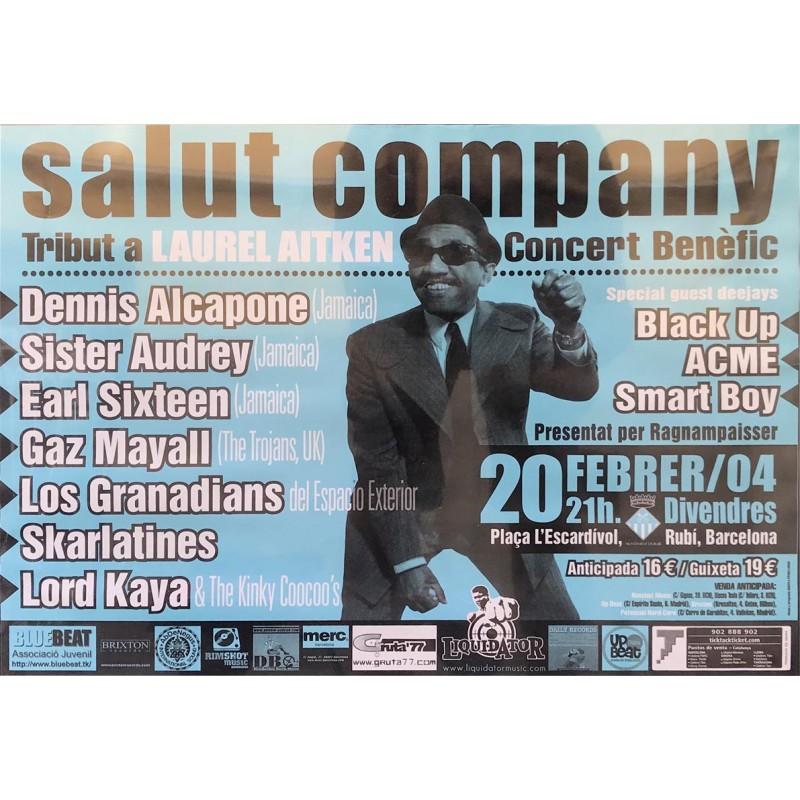 Poster Salut Company . Tributo a Laurel Aitken (100x140cm, sábana)