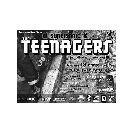 Poster Al Supersonic & The Teenagers (50x70cm)